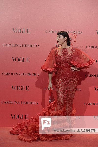 Rossy de Palma attends Vogue 30th Anniversary Party at Casa Velazquez on July 12  2018 in Madrid  Spain