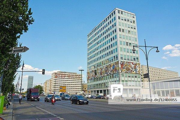 Alexanderstrasse  with Haus des Lehrers  Berlin  Germany.