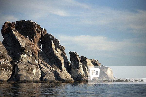 Rock formations in Cononado Island in Loreto Bay in Mexico's southern Baja California state  February 14  2009.