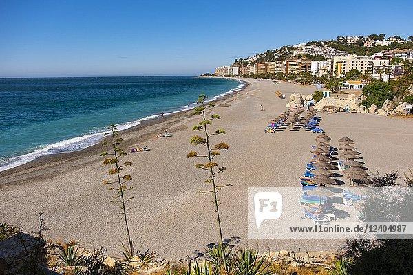 Tesorillo Velilla beach  Almuñecar. Costa Tropical  Mediterranean Sea. Granada Province. Andalusia  Southern Spain Europe.
