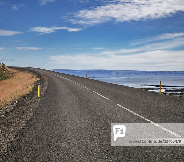 Empty Road  West Fjords  Iceland.