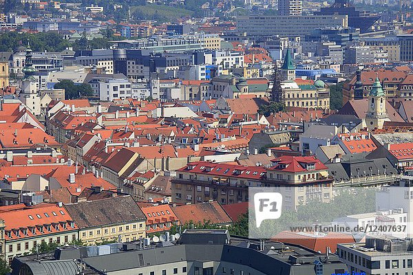 Slovakia  Bratislava  old town  aerial view  general view .