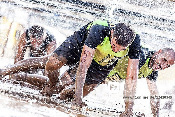 Canary Infinity Xtreme spartan race competition 2018. Puerto de la Cruz. Tenerife island. Spain