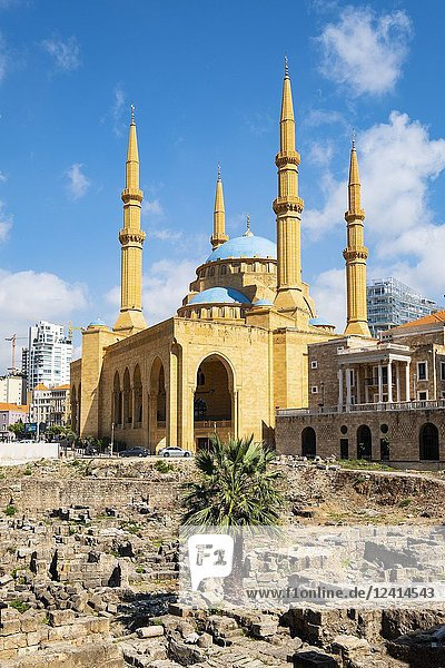 Mohammed al-Amin Mosque in Beirut  Lebanon.