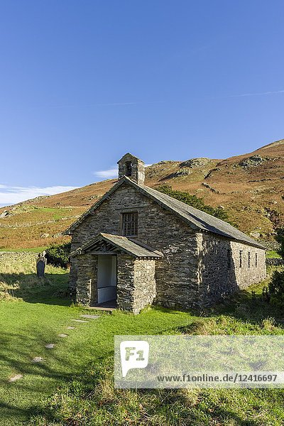 Saint Martin's Church at Martindale in the Lake District National Park  Cumbria  England.