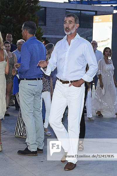 King Felipe of Spain attends Ara Malikian Concert at Porto Adriano on August 2  2018 in Mallorca  Spain