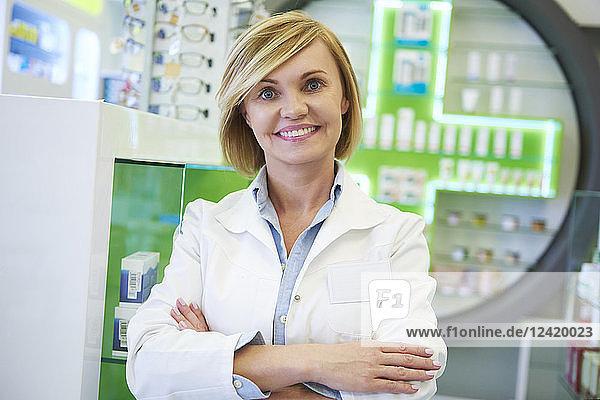 Portrait of smiling pharmacist Portrait of smiling pharmacist