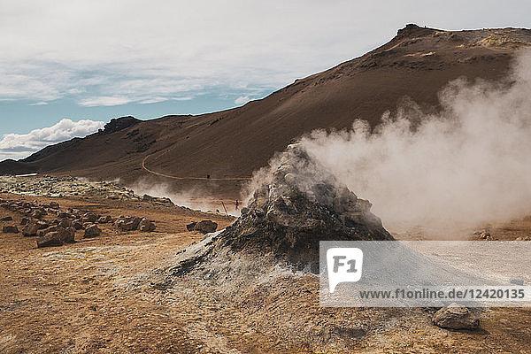 Iceland  Hverarond field