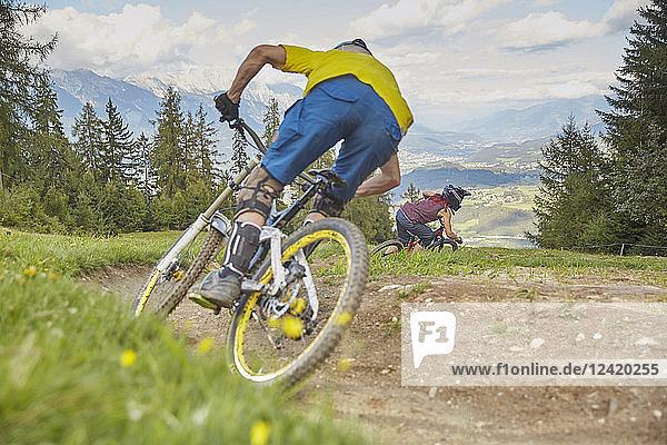Austria  Tyrol  Downhill mountain biker