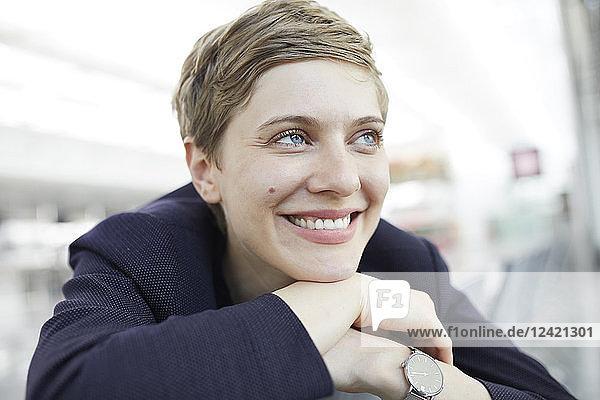 Portrait of blond businesswoman