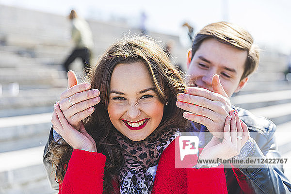 Russia  Moscow  couple dating and having fun