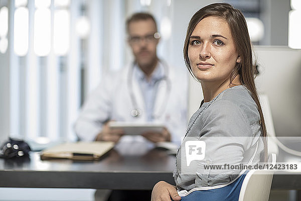 Doctor and patient in medical practice
