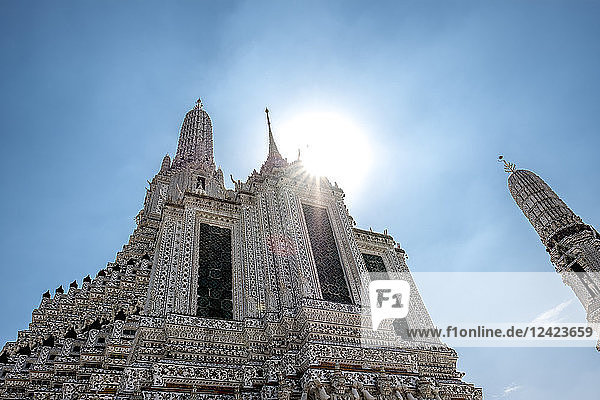 Thailand  Bangkok  temple Wat Arun at backlight