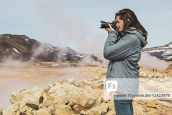 Iceland  Hverarond field  female photographer