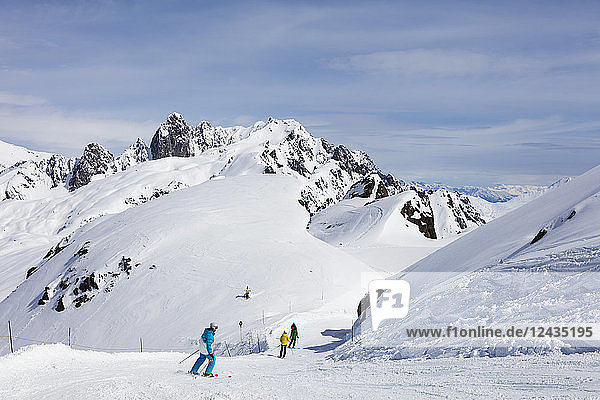 Brevant ski area  Chamonix  Haute Savoie  Rhone Alpes  French Alps  France  Europe