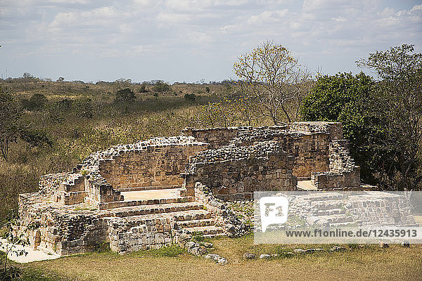 Mayan Ruins  Oxkintok Archaeological Zone  300 to1050 AD  Yucatan  Mexico  North America