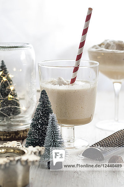 Glass of eggnogg at Advent