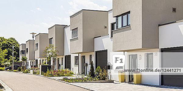 Germany  Bavaria  Neu-Ulm  modern one-family houses  efficiency houses