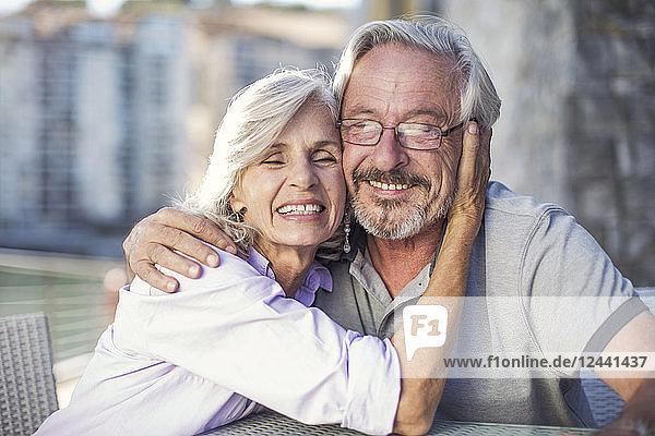 Senior couple enjoying their a city break
