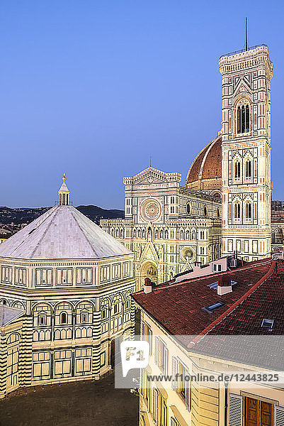 Florence Cathedral  Giotto's Campanile  Baptistry of St. John  Brunelleschi's Dome  Florence  Tuscany  Italy