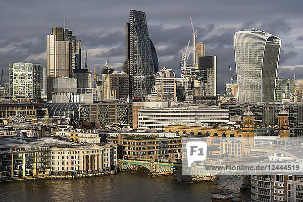 Skyline of London  England from Tate Switch  London  England