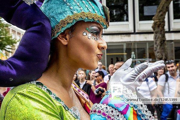 ROTTERDAM - Street parade of the Summer Carnival in Rotterdam.