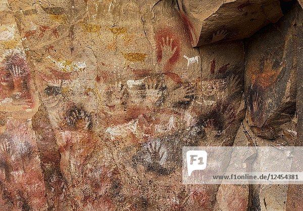 Cueva de las Manos  UNESCO World Heritage Site  Rio Pinturas Canyon  Santa Cruz Province  Patagonia  Argentina.