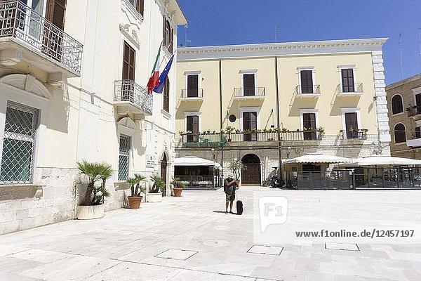 Cityscape in Bari.Puglia  Italy. Mercantile square.