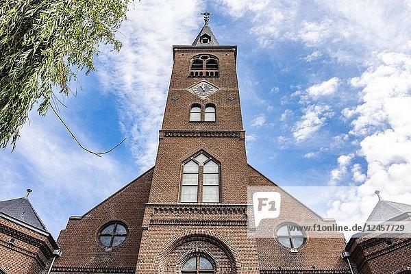 Church in Volendam  North-Holland  the Netherlands  Europe.