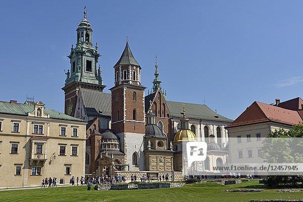 Wawel Cathedral  Krakow  Malopolska Province (Lesser Poland)  Poland  Central Europe.