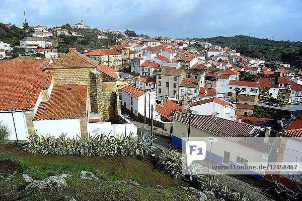 View from the castle of the rooves in Idanha-a-Nova  Castelo Branco  Portugal.