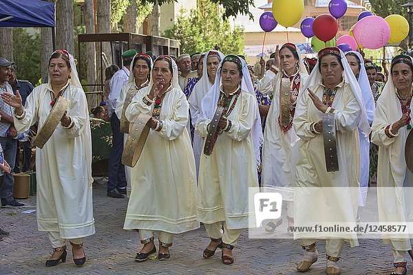 Pamiri women celebrating at the 'Roof of the World' festival in Khorog  Tajikistan.