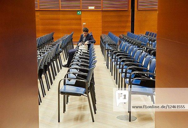 Congress rooms  Kursaal Congress Palace  Donostia  San Sebastian  Gipuzkoa  Basque Country  Spain  Europe