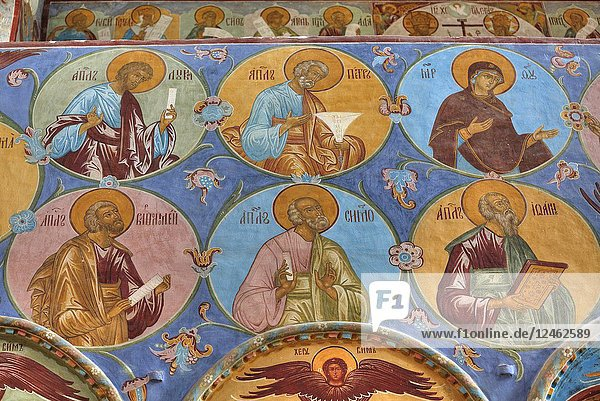 Frescoes  Miracle Image of the Saviour Church  Kremlin  Rostov Veliky  Golden Ring  Yaroslavl  Russia