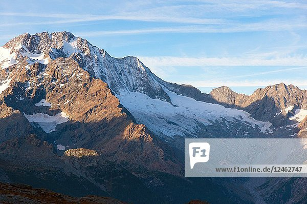 Mount Disgrazia and his glacier  Chiareggio  Valmalenco  Province of Sondrio  Lombardy  Italy.