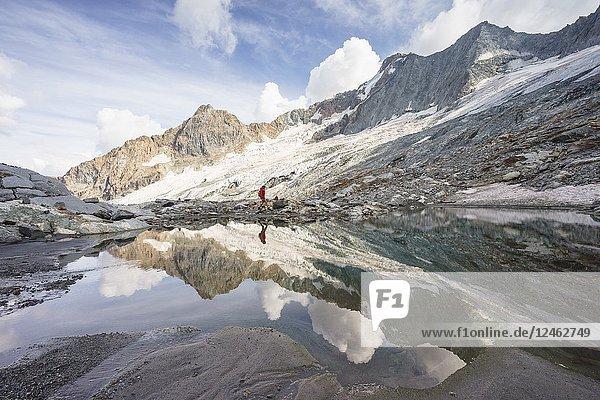 Disgrazia Glacier  Sissone Valley  Chiareggio  Valmalenco  Province of Sondrio  Lombardy  Italy.