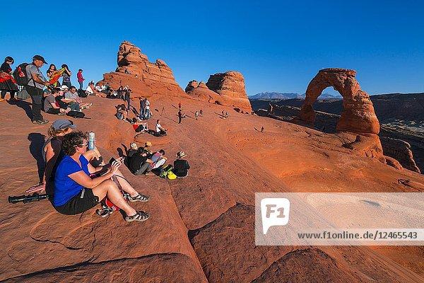 Delicate Arch  Arches National Park  Colorado Plateau  Utah  Grand County  Usa  America.