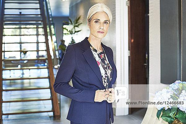 Portrait of mature businesswoman.