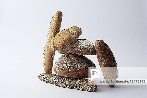 Still life of various breads