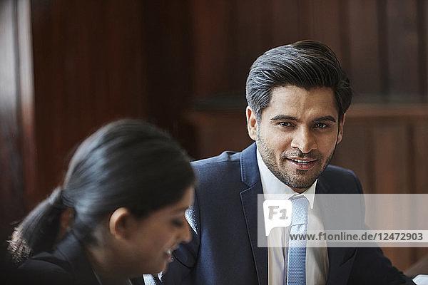 Businessman during meeting