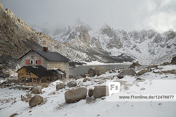 Steingebäude in den Bergen von Bariloche  Argentinien