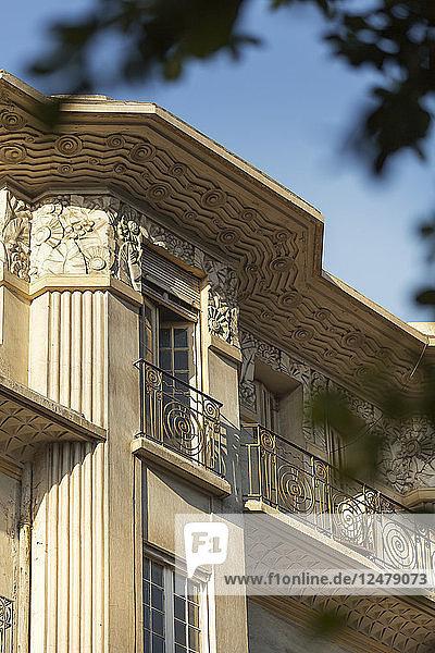 Art-déco-Architektur am Boulevard Mohammed V  Casablanca  Marokko.