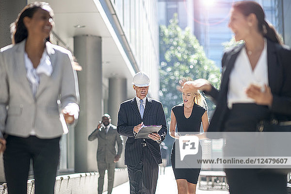 Businesspeople on construction site