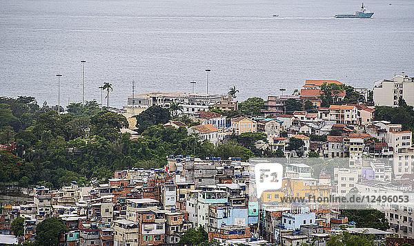 Aerial view of Santa Teresa Favela in Rio de Janeiro