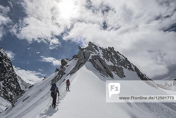 A Rope Team Climbing A Ridge In Little Switzerland