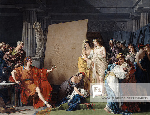 Zeuxis Choosing a Model from the Beautiful Girls of Croton  1789. Artist: Francois-Andre Vincent