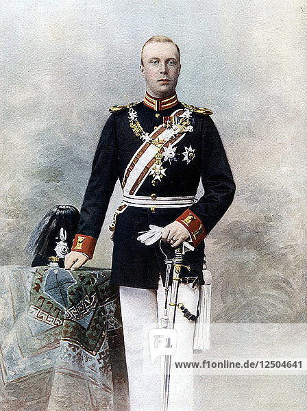 Duke Henry of Mecklenburg  Prince of the Netherlands  late 19th-early 20th century.Artist: Bieber