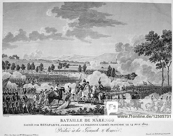 Battle of Marengo  14 June  1804. Artist: Anon