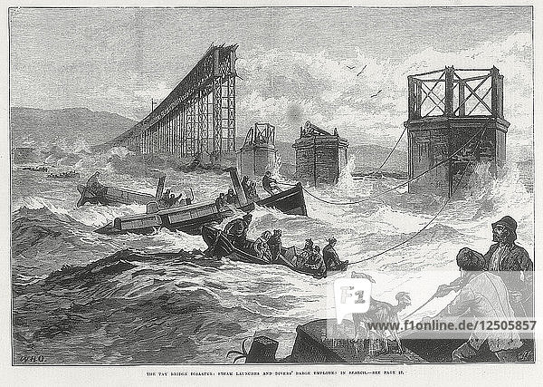 Tay Bridge disaster  Scotland  28 December 1879. Artist: Unknown