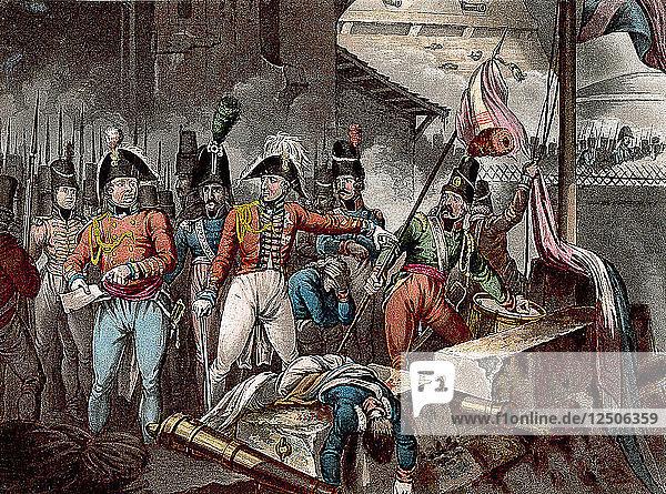 The Duke of Wellington at the taking of Ciudad Rodrigo  Spain  Peninsular War  1812 (c1818). Artist: William Heath